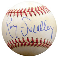 Roy Smalley Sr. Autographed Official NL Baseball Milwaukee Braves, Chicago Cubs Beckett BAS #F27490