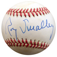 Roy Smalley Sr. Autographed Official NL Baseball Milwaukee Braves, Chicago Cubs Beckett BAS #F27492