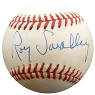 Roy Smalley Sr. Autographed Official NL Baseball Milwaukee Braves, Chicago Cubs Beckett BAS #F27493