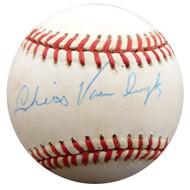 Chris Van Cuyk Autographed Official NL Baseball Brooklyn Dodgers Beckett BAS #F27755