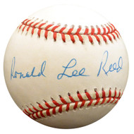 """Ron"" Ronald Lee Reed Autographed Official NL Baseball Philadelphia Phillies Full Name Beckett BAS #F29880"