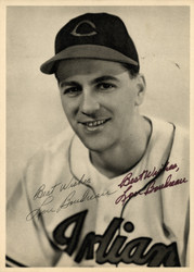"Lou Boudreau Autographed 6.5x9 Photo Picture Pack 1948 Cleveland Indians ""Best Wishes"" Beckett BAS #F98271"