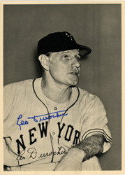 Leo Durocher Autographed 6.5x9 Photo Picture Pack 1948 New York Giants Beckett BAS #F98279
