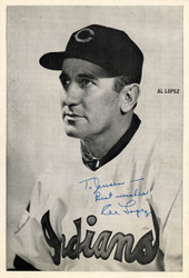 "Al Lopez Autographed 6x8.5 Photo Picture Pack Cleveland Indians ""To Jensen Best Wishes"" Beckett BAS #F98295"
