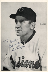 "Al Lopez Autographed 6x8.5 Photo Picture Pack Cleveland Indians ""To Carol Best Wishes"" Beckett BAS #F98296"