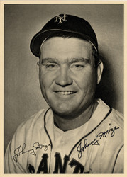 Johnny Mize Autographed 6.5x9 Photo Picture Pack 1949 New York Giants Beckett BAS #F98298