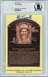 Alan Trammell Autographed HOF Plaque Postcard Detroit Tigers Beckett BAS Stock #142776