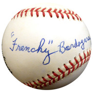 """Frenchy"" Bordagary Autographed Official NL Baseball Brooklyn Dodgers Beckett BAS #E48041"