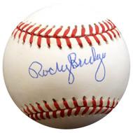 Rocky Bridges Autographed Official NL Baseball Brooklyn Dodgers Beckett BAS #E48048