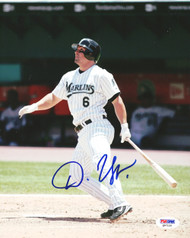 Dan Uggla Autographed 8x10 Photo Florida Marlins PSA/DNA #Q97120
