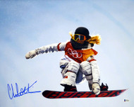 Chloe Kim Autographed 16x20 Photo Team USA Women's Snowboarding 2018 Winter Olympics Beckett BAS Stock #144525