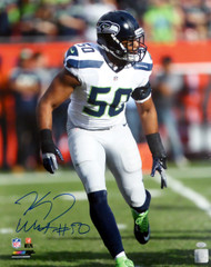 K.J. KJ Wright Autographed 16x20 Photo Seattle Seahawks MCS Holo Stock #144615