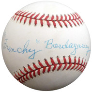 """Frenchy"" Bordagary Autographed Official NL Baseball Brooklyn Dodgers Beckett BAS #F26215"