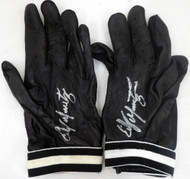 Edgar Martinez Autographed Pair of Game Used Franklin Batting Gloves with Signed Certificate SKU #145132