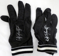 Edgar Martinez Autographed Pair of Game Used Franklin Batting Gloves with Signed Certificate SKU #145133