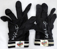 Edgar Martinez Autographed Pair of Game Used Franklin Batting Gloves with Signed Certificate SKU #145134