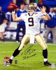 "Drew Brees Autographed 16x20 Photo New Orleans Saints ""SB XLIV MVP"" Beckett BAS Stock #145149"