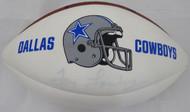 Tom Landry Autographed White Panel Football Dallas Cowboys (Light) Beckett BAS #F87696