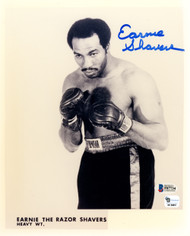 Earnie Shavers Autographed 8x10 Photo Beckett BAS #F87734