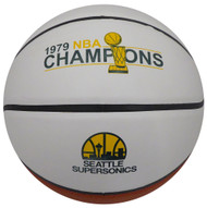Seattle Supersonics 1978-79 NBA Champions Logo Unsigned Basketball Stock #145873