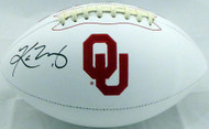 Kyler Murray Autographed Oklahoma Sooners White Logo Football Beckett BAS Stock #145895