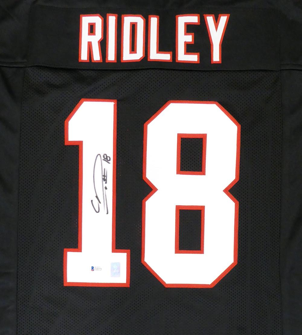 quality design 25009 12eaf Atlanta Falcons Calvin Ridley Autographed Black Jersey Beckett BAS Stock  #146676