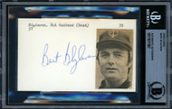Bert Blyleven Autographed 3x5 Index Card Minnesota Twins Beckett BAS #11077387