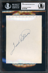 Frank Robinson & Frank Bolling Autographed 4.5x6 Album Page Vintage Beckett BAS #11077662