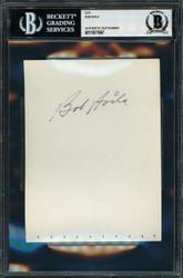 Bob Avila Autographed 4.5x6 Album Page Cleveland Indians Beckett BAS #11077667