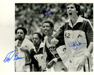 """Downtown"" Fred Brown, Paul Silas & Wally Walker Autographed 8x10 Photo Seattle Supersonics MCS Holo #51042"