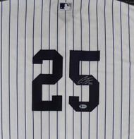 New York Yankees Gleyber Torres Autographed White Majestic Cool Base Jersey Size XL Beckett BAS Stock #147540