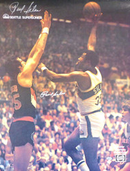 Paul Silas Autographed Seattle Supersonics 17x22 Poster MCS Holo Stock #147596