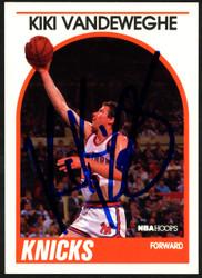 Kiki Vandeweghe Autographed 1989-90 Hoops Card #295 New York Knicks SKU #148005