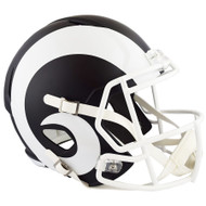 Unsigned Los Angeles Rams Flat Matte Black Full Size Speed Replica Helmet Stock #148083