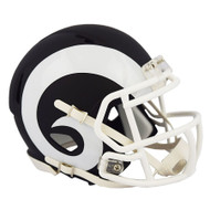 Los Angeles Rams Unsigned Flat Matte Black Speed Mini Helmet Stock #148093