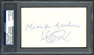 Ichiro Suzuki & George Sisler Autographed 3x5 Index Card PSA/DNA #84064891