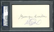Ichiro Suzuki & George Sisler Autographed 3x5 Index Card PSA/DNA #84064888