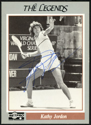Kathy Jordan Autographed 1991 NetPro The Legends Card #7 SKU #148265