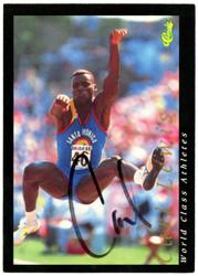 Carl Lewis Autographed 1992 Classic Card #1 Olympian SKU #148275