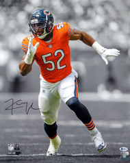 Khalil Mack Autographed 16x20 Photo Chicago Bears Beckett BAS Stock #148329