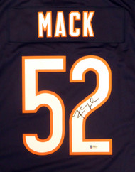 Chicago Bears Khalil Mack Autographed Blue Nike Jersey Size XL Beckett BAS Stock #148305