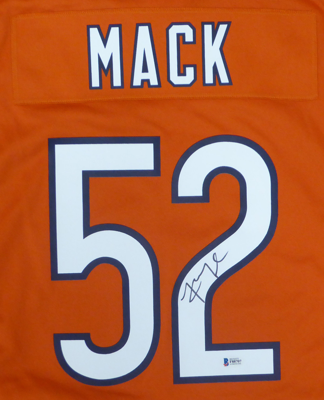 low priced fd978 83dca Chicago Bears Khalil Mack Autographed Orange Nike Jersey Size L Beckett BAS  Stock #148306
