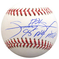 "Sale!! Sammy Sosa Autographed Official MLB Baseball Chicago Cubs ""98 NL MVP"" Beckett BAS Stock #148621"