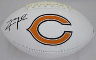 Sale!! Khalil Mack Autographed Chicago Bears White Logo Football Beckett BAS Stock #148625