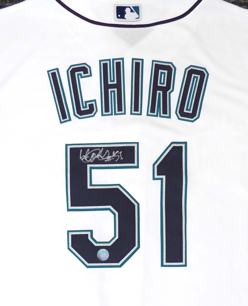 info for 4f524 7e754 Seattle Mariners Ichiro Suzuki Autographed White Majestic Cool Base Jersey
