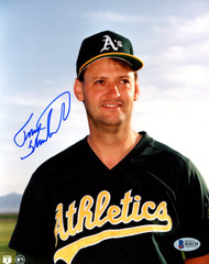 Terry Steinbach Autographed 8x10 Photo Oakland A's Beckett BAS #H10138