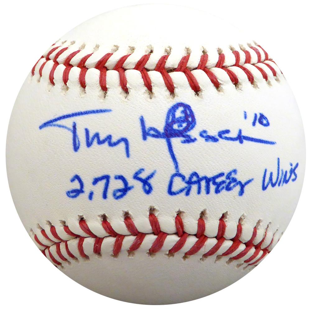 Tony Larussa Autographed Official Mlb Baseball St Louis Cardinals Oakland A S 2728 Career Wins Psa Dna S41723 Mill Creek Sports