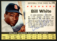 Bill White Autographed 1961 Post Cereal Card #176 St. Louis Cardinals SKU #149728