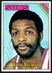 Willie Norwood Autographed 1975-76 Topps Card #168 Phoenix Suns SKU #150038