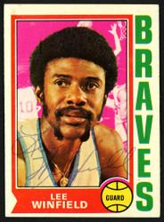 Lee Winfield Autographed 1974-75 Topps Card #157 Buffalo Braves SKU #150041